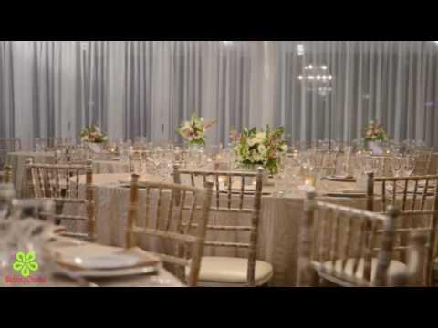 WEDDING DECORATIONS IDEAS || WEDDING CEREMONY DECORATIONS || LUXE GEOMETRIC CHAMPAGNE WEDDING