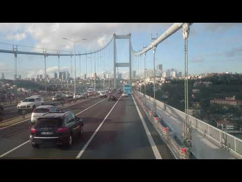 The Bosphorus Bridge, Asia to Europe. 10.12.17