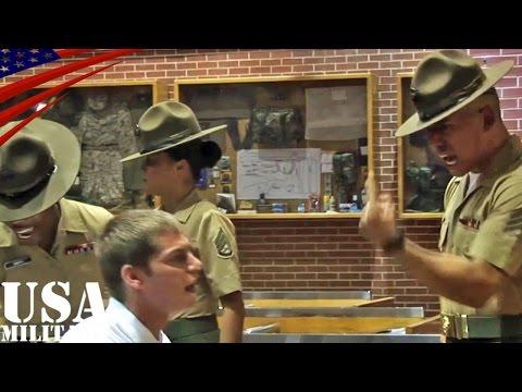 アメリカ海兵隊ブートキャンプ(新兵訓練)・恐怖の初日 - US Marines Boot Camp, First Day of Horror
