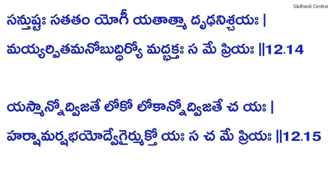 Bhagavath Geetha Telugu Pdf