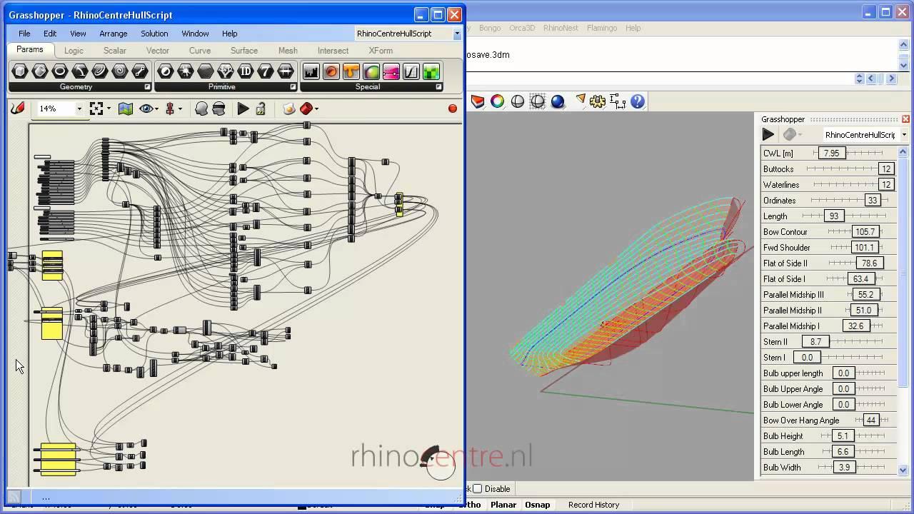 Demo Grasshopper Automatic Section Script for Rhino3d