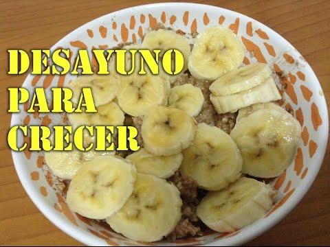 Desayuno para aumentar la masa muscular (porridge)