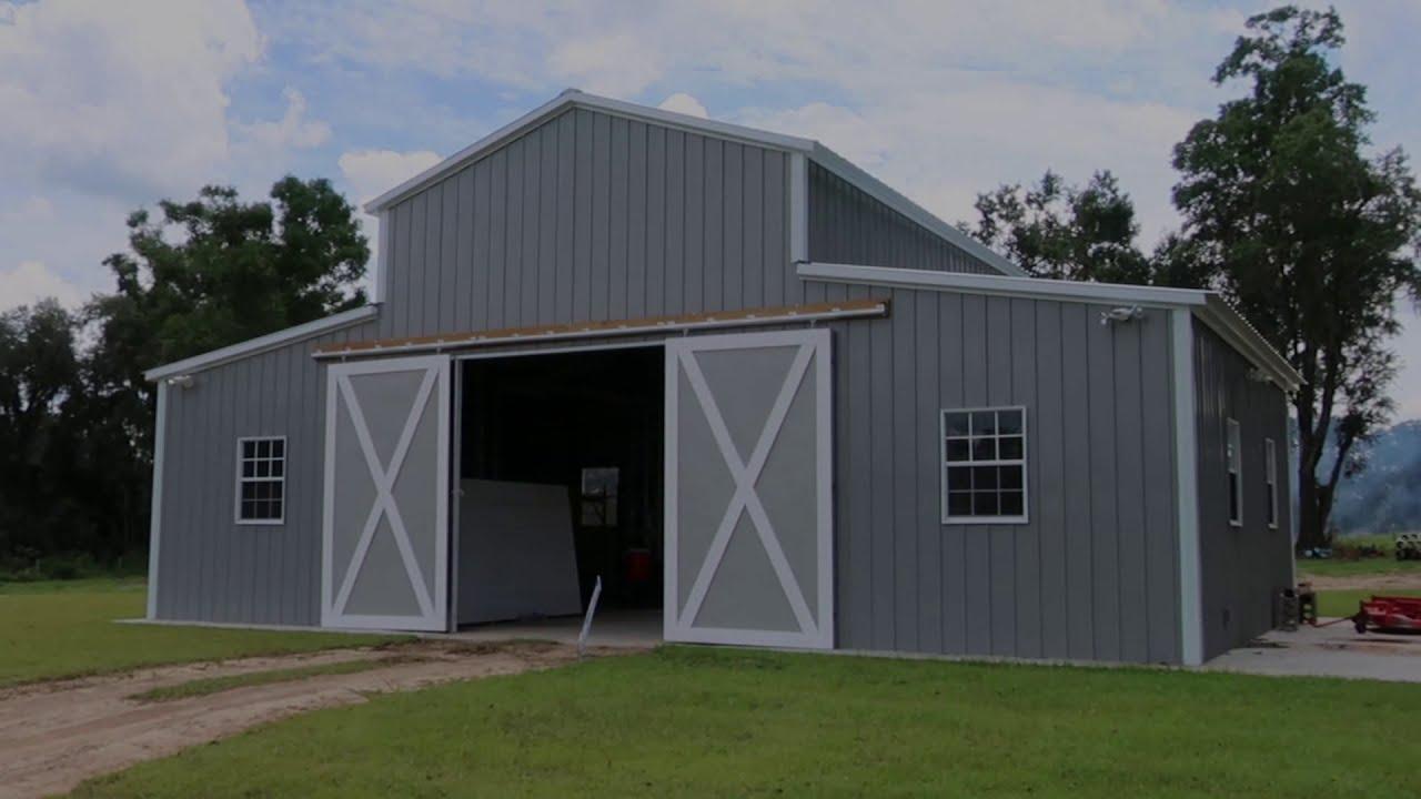 Custom Metal Barn by Elite Outdoor Buildings - YouTube on Elite Outdoor Buildings id=73075