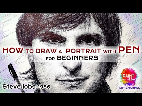 Steve Jobs Drawing | staedtler pens | online art classes