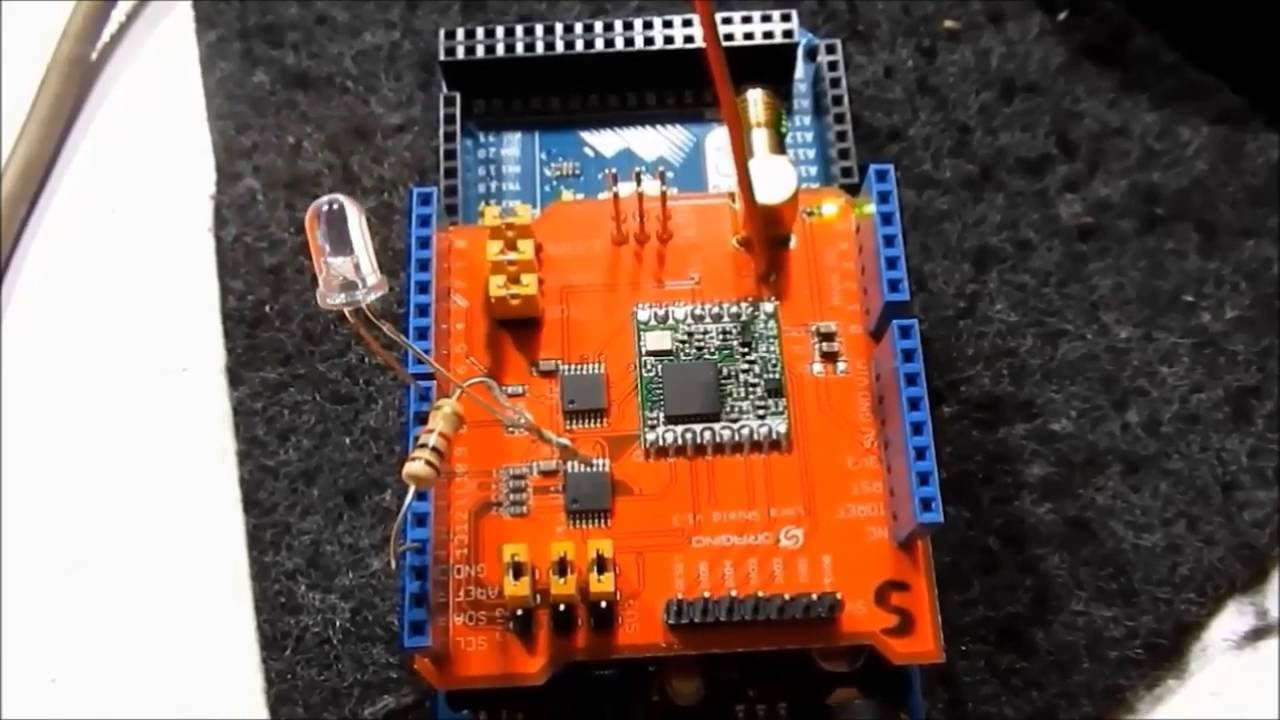 LoRa Dragino Shield 1  Arduino Mega2560 (AM2302)-Temperatura y Humedad