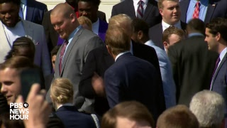WATCH LIVE: President Trump hosts the Alabama Crimson Tide at the White House