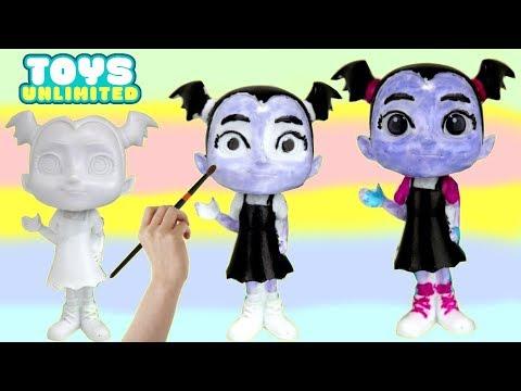 Vampirina's Bobble Head Friends Easy DIY Painting Activity