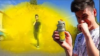 REAL LIFE FORTNITE *STINK BOMB* PRANK ON MY LITTLE BROTHER... FORTNITE IN REAL LIFE PRANK