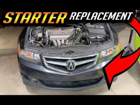 ACURA TSX STARTER MOTOR REPLACEMENT DIY HOW TO