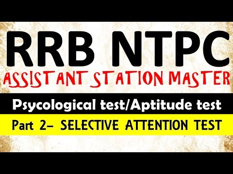 RRB NTPC PSYCHO TEST ||part2 Selective attention test||  ||Aptitude test|| psychological test||