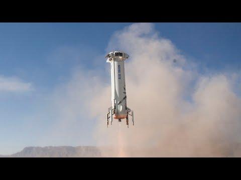 Watch Blue Origin's rocket launch and capsule abort test