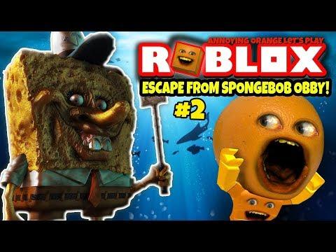 Roblox: ESCAPE SPONGEBOB OBBY #2 🍊  [Annoying Orange Plays]