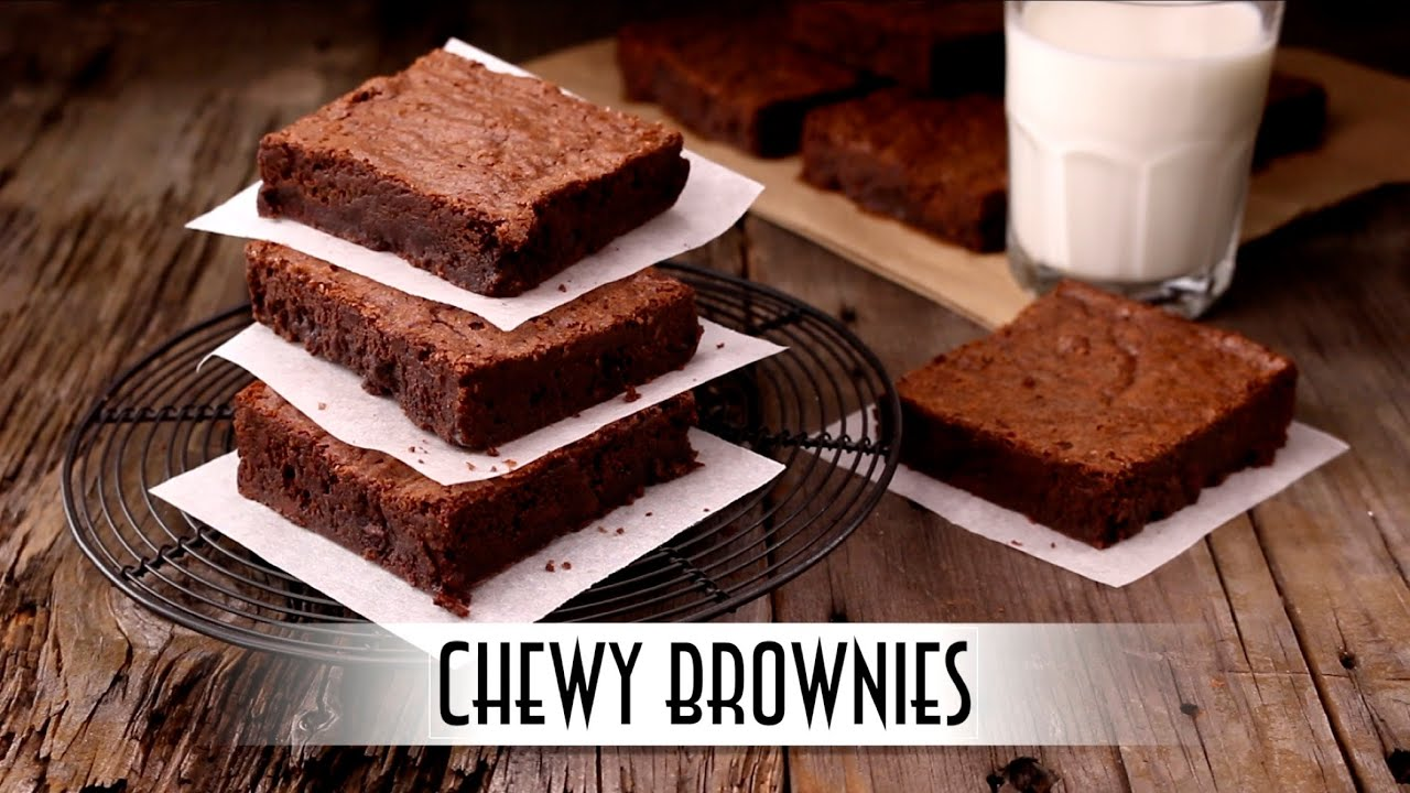 Chewy Brownies​ | Triple Chocolate