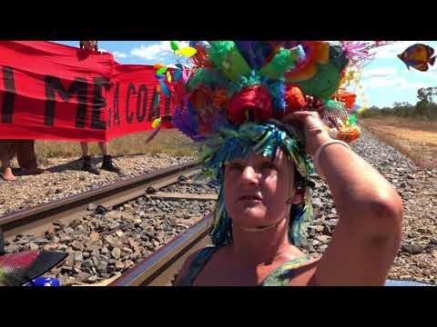 Anti-Coal Protesters Lie on Train Tracks