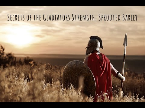 Secrets of Gladiators, Sprouted Barley, Anti Aging, Build Muscle, Strengthen Bones, Bob Gilpatrick