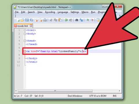 How To Create A Link With Simple HTML Programming