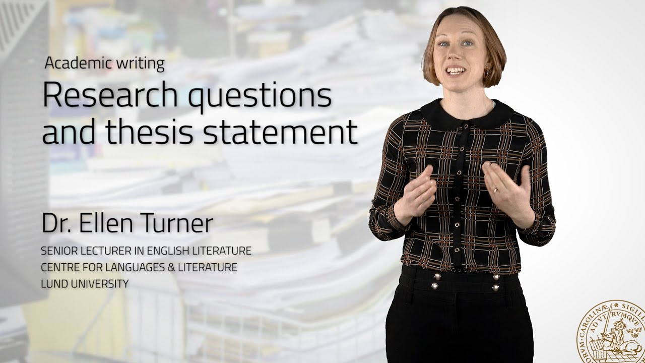 Research Questions And Thesis Statement Youtube