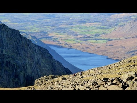 Great End, Scafell Pike, Lord's Rake & Sca Fell, Lake District - 21 January 2017