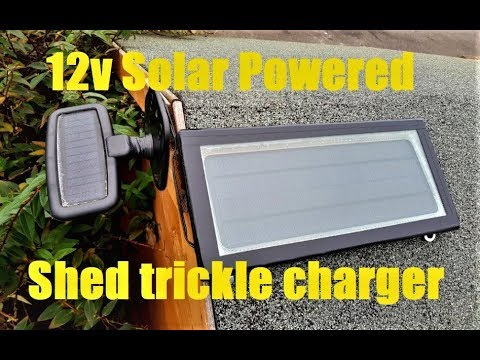 12v Motorcycle Solar Power Trickle Charger Mod