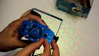 Лазерный мини проектор цветомузыка Видео обзор(Портативный сценический лазерный проектор. Простой в управлении. Создает атмосферу праздника. Цвета лазер..., 2015-07-28T01:08:34.000Z)