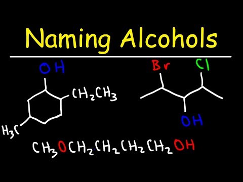 Naming Alcohols - IUPAC Nomenclature