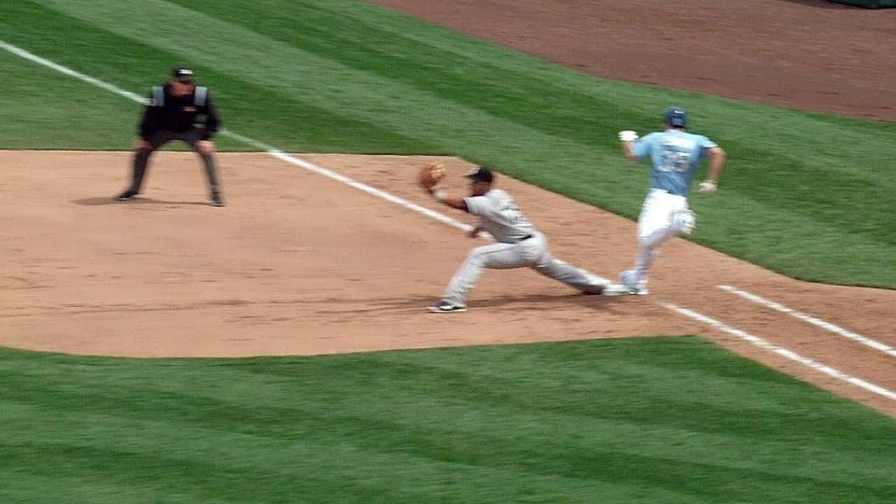 CWS@KC: Call stands after White Sox challenge in 6th