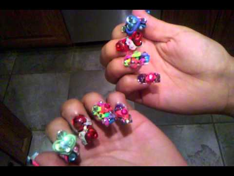 Nail Art Rainbow Bright 4d By Bellagemanails