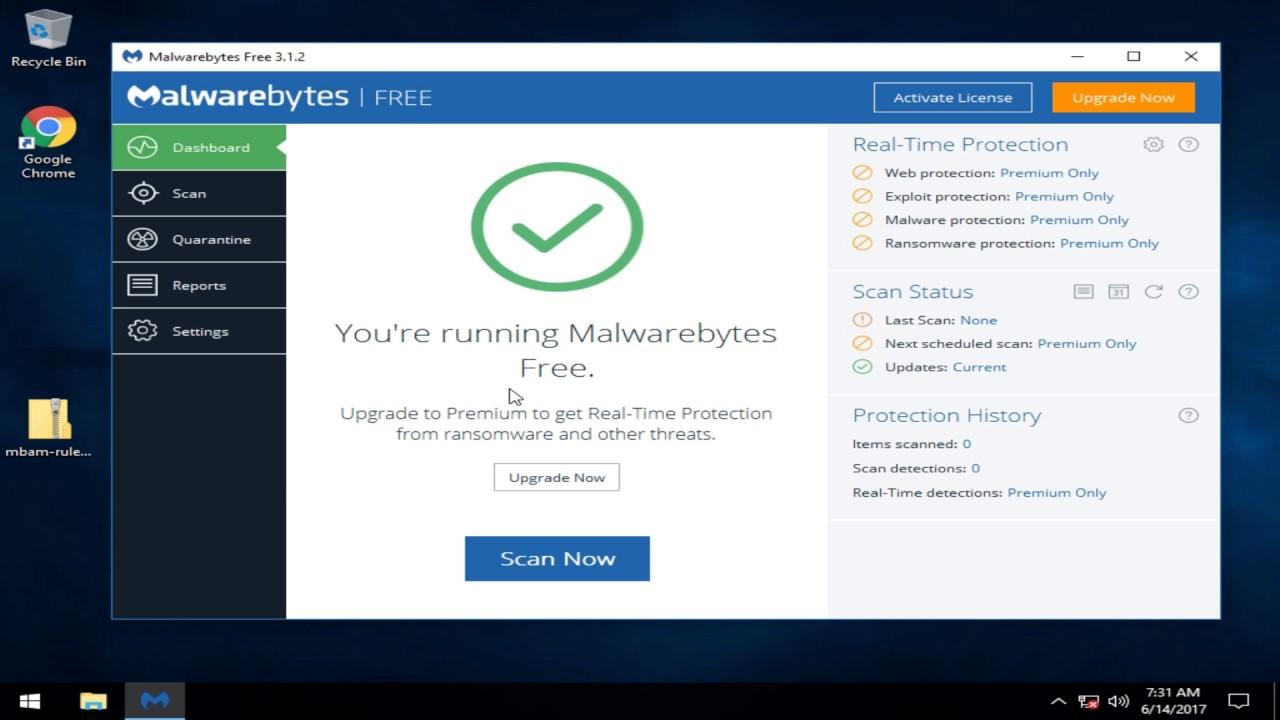 how to manually update malwarebytes rules