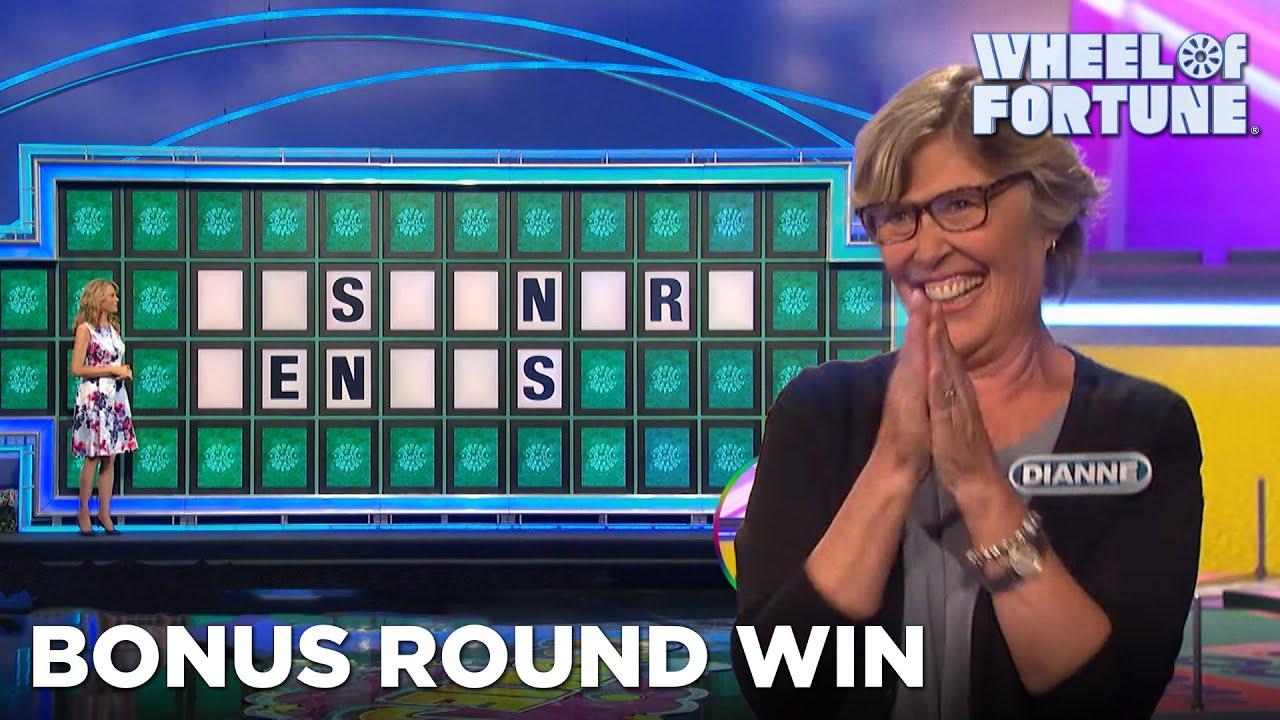 Dianne Wins $38K in the Bonus Round | Wheel of Fortune