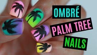 Summer Palm Tree Nails