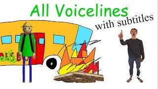 All Voicelines with Subtitles | Baldi's Basics - Field Trip Demo (v1.0) thumbnail