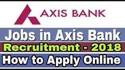 Jobs in Axis Bank II Private Bank Job 2018 II How to Apply Online II Learn Technical