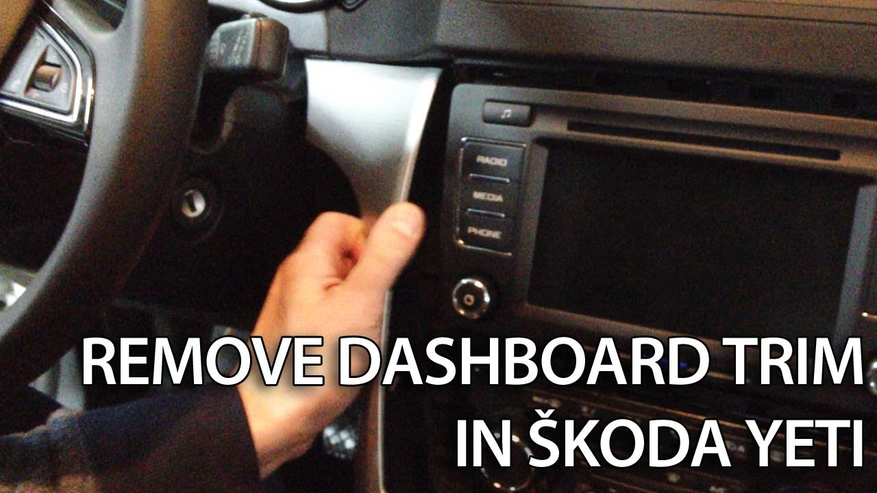 how to remove dashboard trim in koda yeti interior disassemble tuning youtube. Black Bedroom Furniture Sets. Home Design Ideas