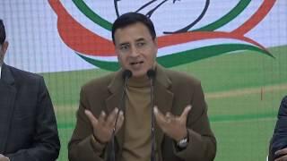 Unprecedented Price Rise: Randeep Singh Surjewala addresses media at Congress HQ