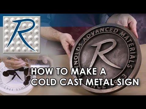 Cold Casting Bronze Sign with Real Metal Powder