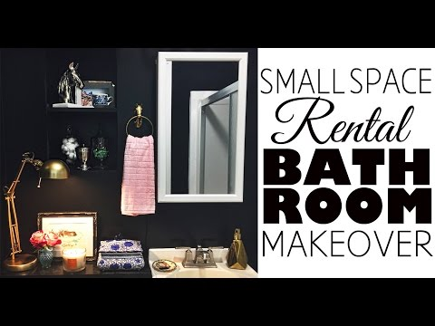 Bathroom Decor:  Small Space Rental