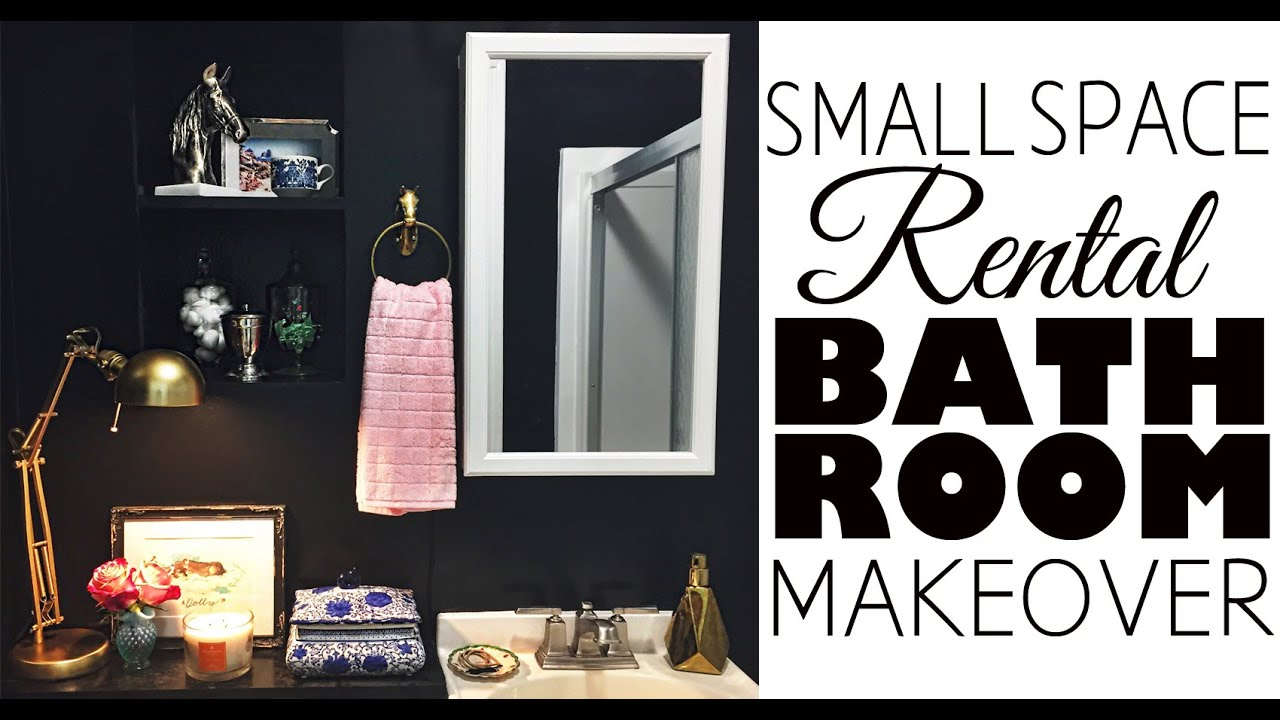 Bathroom decor small space rental youtube for Small room rental
