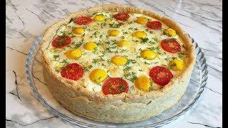 Неимоверно Вкусный Грибной Пирог с Перепелиными Яйцами Просто Пальчики Оближешь / Mushroom Pie
