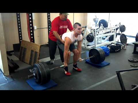 Colby Massey 550 Raw Deadlift @ 180lb barely miss