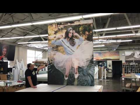 PROLAB Digital producing Monster Canvas Giclee Gallery wrap prints for retail store Wildfox