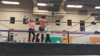 Upstart pro wrestling heavyweight championship-ace perry vs Colton cage