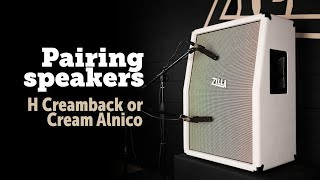 Pairing speakers with a Vintage 30.... H and Alnico creambacks