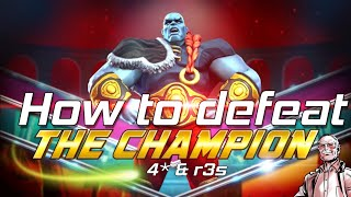 How to defeat THE CHAMPION (Uncollected) Fully breakdown - Marvel Contest of Champions