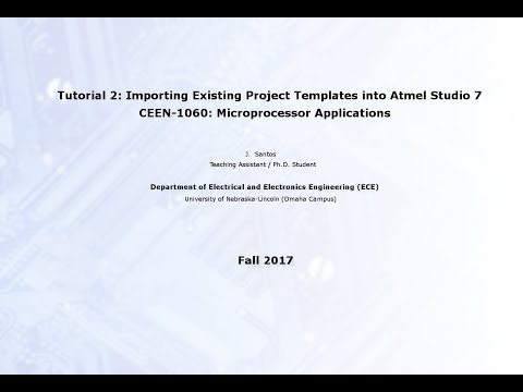 Lecture 2: Importing (existing) Project Templates