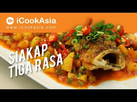 Ikan Siakap Tiga Rasa | Try Masak | iCookAsia