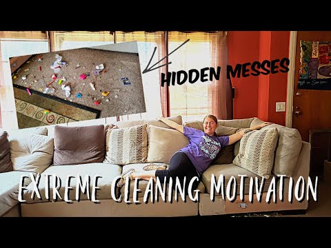 EXTREME Cleaning Motivation | Cleaning Living Room & Under Furniture | Hidden Messes | Clean With Me