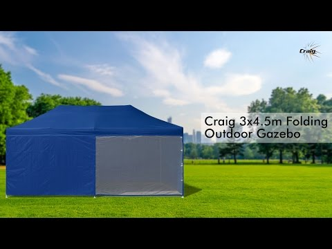 Green 3x4.5m Outdoor Gazebo Folding Marquee