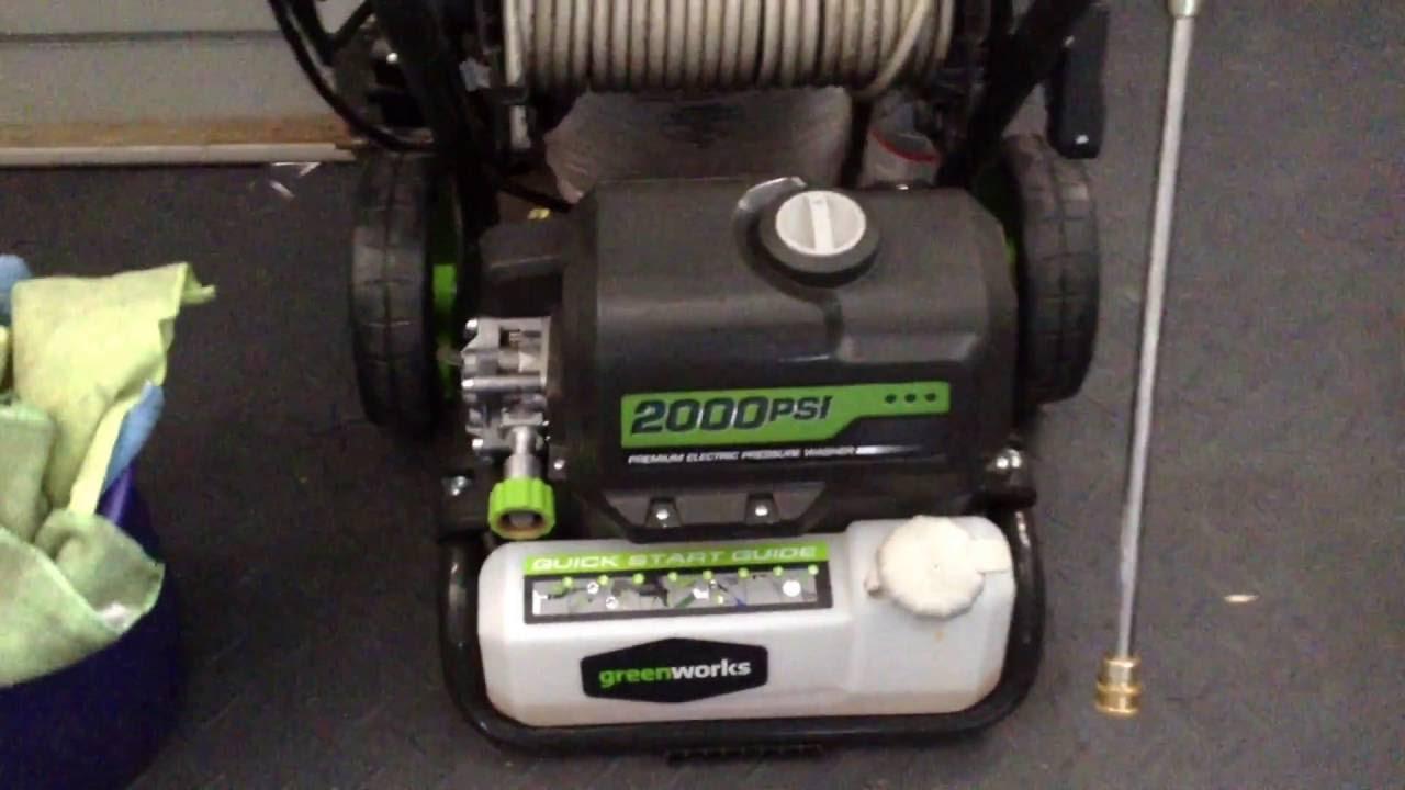 Green Works 2000 Electric Pressure Washer Youtube