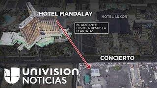 Atacante escogió una ubicación estratégica para el masivo tiroteo en Las Vegas