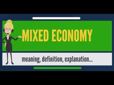 What is MIXED ECONOMY? What does MIXED ECONOMY mean? MIXED ECONOMY meaning & explanation